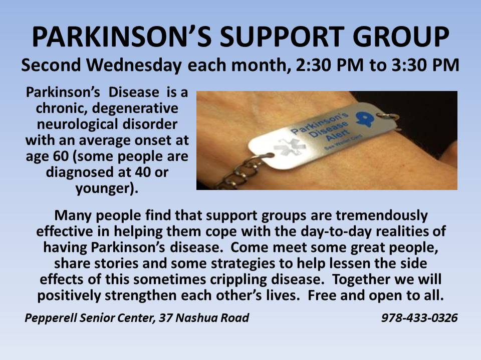 Parkinsons Support 2nd Wednesdays