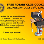 Rotary Cookout til 2019-08-01