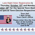 Late Night Voter Reg til 2019-10-29