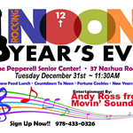 Noon Years Eve Flyer 2019